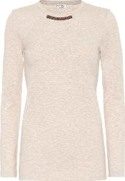 Embellished Stretch Cotton Top