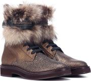 Fur Trimmed Ankle Boots