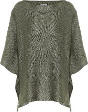 Linen And Silk Knitted Cape