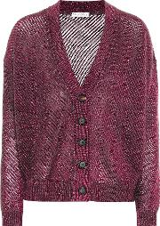 Mohair And Wool Blend Cardigan