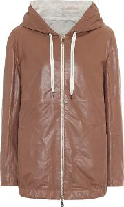 Reversible Leather And Cotton Jacket
