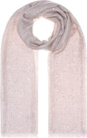 Sequined Cashmere And Silk Scarf