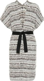 Sequined Cotton Blend Cardigan