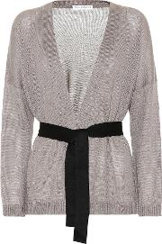 Sequinned Linen And Silk Cardigan