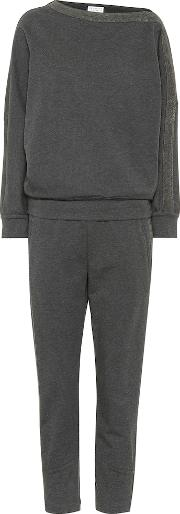 Stretch Cotton Top And Pant Set