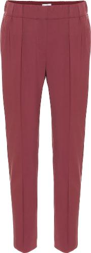 Stretch Wool Cropped Pants