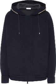 Wool And Cotton Hooded Jacket