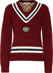 Appliqued Wool And Cashmere Sweater