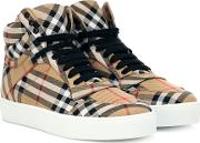 Check High Top Sneakers