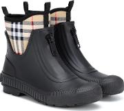 Checked Rubber Boots