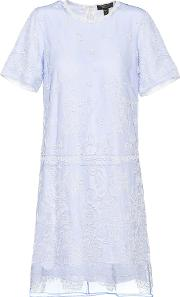 Embroidered Tulle T Shirt Dress