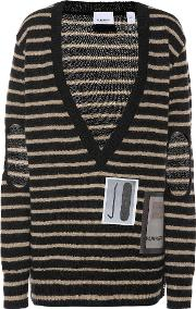 Striped Mohair Blend Sweater