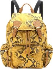 The Large Printed Fabric And Leather Backpack