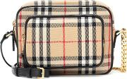Vintage Check Camera Shoulder Bag