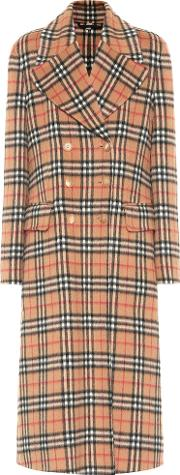 Vintage Check Wool Trench Coat