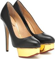 Dolly Leather Plateau Pumps
