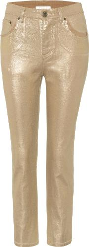 Exclusive To Mytheresa.com Metallic Cropped Jeans