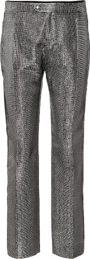 Metallic Straight Leg Pants