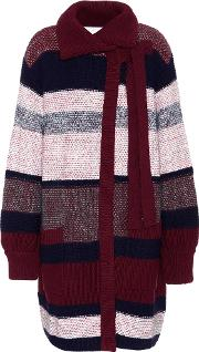 Wool, Mohair And Cashmere Blend Cardigan