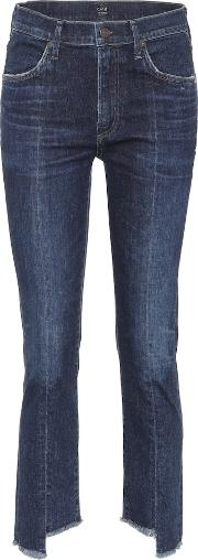 Amari High Waisted Cropped Jeans