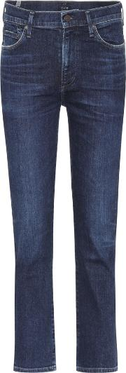 Cara High Waisted Cropped Jeans