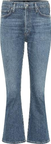 Demi Cropped High Rise Jeans