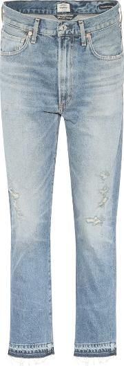 Dree High Waisted Cropped Cotton Jeans
