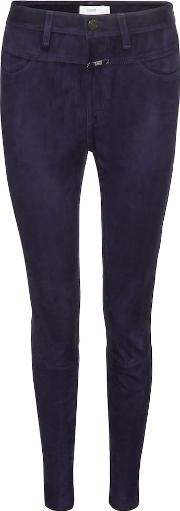 Skinny Pusher Suede Trousers