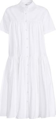 Tiered Puff Cotton Dress