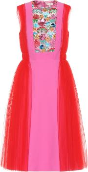Crepe And Tulle Dress