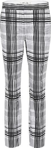 Darnley Plaid Cotton Trousers