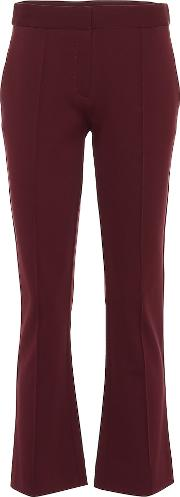 Mid Rise Cropped Bootcut Pants