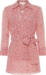 Printed Cotton And Silk Blouse