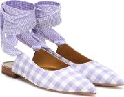 Checked Ballet Flats
