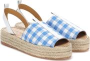 Checked Espadrilles