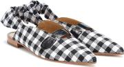 Checked Slingback Ballet Flats