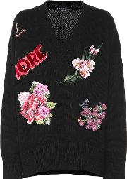 Appliqued Cashmere Sweater