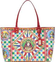Beatrice Printed Leather Tote