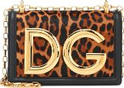 Dg Girls Calf Hair Shoulder Bag