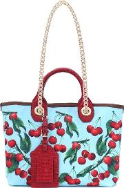 Exclusive To Mytheresa Capri Cherry Printed Canvas Shopper