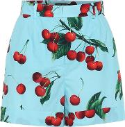 Exclusive To Mytheresa Cherry Printed Cotton Shorts