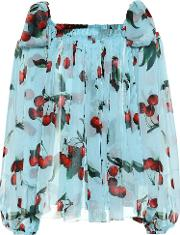 Exclusive To Mytheresa Cherry Printed Silk Blouse