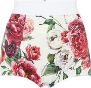 Floral Cotton And Silk Blend Shorts