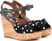 Polka Dot Wedge Sandals