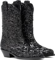 Sequined Cowboy Boots