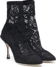Stretch Lace Ankle Boots