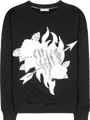 Embroidered Cotton Sweater