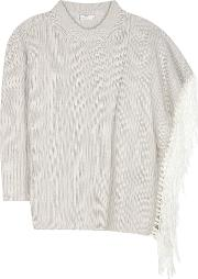 Fringed Wool Sweater