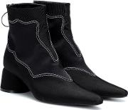 Moire Satin Ankle Boots