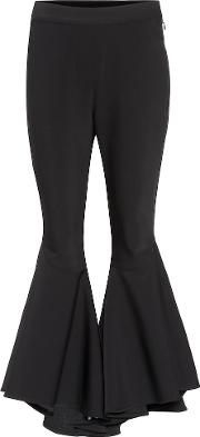 Sinuous Wool Blend Cropped Trousers